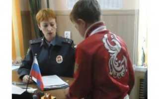 Задержание подростка правоохранительными органами