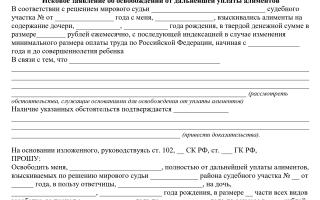Образец заявления на отмену алиментов