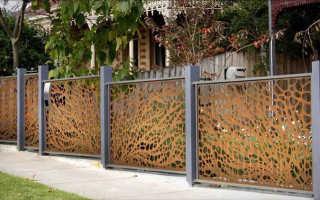 Дома ограды оформление