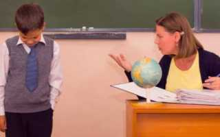 Жалоба на учителя школы