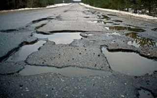 Жалоба на состояние дороги в прокуратуру